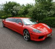 Ferrari Limo in Manchester